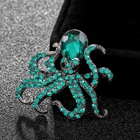 Donia jewelry Kawaii cotopus Brooch Bright Enamel Esmalte  Animal Clothing Accessories Women Brooches Hijab Pins Clips Gift