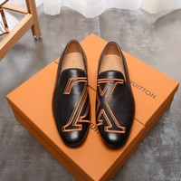 LV Louis Vuitton Man Genuine Leather Fashion Casual Sneakers Shoes