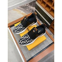 FENDI Men Fashion Boots fashionable Casual leather Breathable Sneakers Running Shoes0525cx