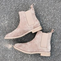 2017 Acevedo brand designer chelsea boots Europe style slp Genuine Leather ankle mens casual west boots men shoes Trainers