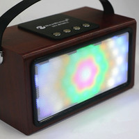Portable Bluetooth Audio BT99L Wooden colorful lights
