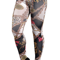 Chains and Flowers Leggings Design 19