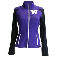 Washington Huskies NCAA Womens Yoga Jacket (Purple ) (X-Small)