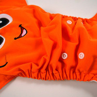 Fishy Face *PRE ORDER*Embroidered, One Size, Pocket Cloth Diaper