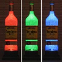 Jose Cuervo Tequila Color Changing LED Remote Controlled Bottle Lamp Light Eco Friendly RGB LED