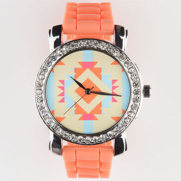 Southwest Dial Watch Coral One Size For Women 23593431301