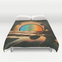 Sunset meditate Duvet Cover by Mariano Peccinetti