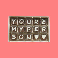Romantic Valentines Day Gift for Boyfriend Him Men Husband You Are My Person Cubic Chocolate Letters AK APO Canada International Shipping