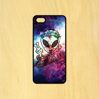 Alien Stay Rad Space Art Phone Case iPhone 4 / 4s / 5 / 5s / 5c /6 / 6s /6+ Apple Samsung Galaxy S3 / S4 / S5 / S6
