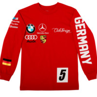 Club Foreign Long Sleeve T-Shirt German Series In Red