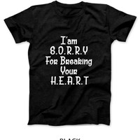 Adele Hello I Am Sorry For Breaking Your Heart Mens T Shirt