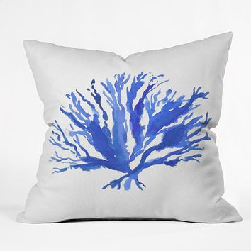 Laura Trevey Sea Coral Outdoor Throw Pillow