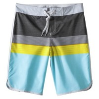 "Mossimo Supply Co. Men's 11"" Aqua and Green Stripe Boardshort"