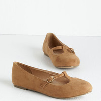 Vintage Inspired On a Stroll Now Flat in Taupe by ModCloth