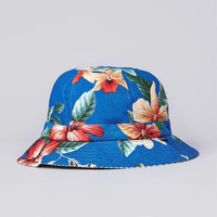 Flatspot - Less Flower Pattern Military Hat Blue / Green Stripe