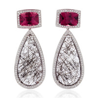 14K White Gold Multi-Stone Earrings | Moda Operandi