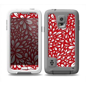 The Bright Red and White Floral Sprout Skin Samsung Galaxy S5 frē LifeProof Case