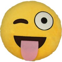 iPhone Emoji Pillow - Sticking Out Tongue and Winking | FREE FAST Shipping from USA | +FREE GIFT!