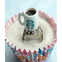 Starbucks Black Coffee Ring