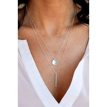 Petite Hammered Disc Necklace- Christine Elizabeth Jewelry