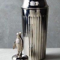 Gleaming Feather Cocktail Shaker by Anthropologie
