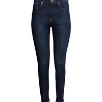 H&M - Skinny High Jeans - Dark denim blue - Ladies