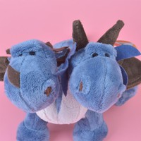 NICI Two Head ICE Dragon Plush Toy for Cute Baby/ Kids Gift, Dinosaur Plush Doll Free Shipping