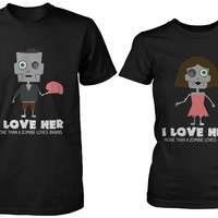 Halloween Couple Shirts Knotts Scary Farm - Loves You More Than Zombie Does