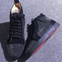 DCCK2 Cl Christian Louboutin Rhinestone Style #1968 Sneakers Fashion Shoes