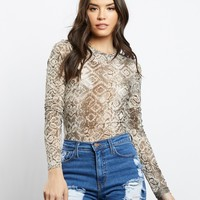 Young And Wild Sheer Long Sleeves Top