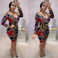 Versace Women Long Sleeve Dress