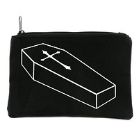 Voodoo Coffin with Cross Cosmetic Makeup Bag Pouch Alternative Gothic Accessories