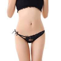 Calcinhas Sexy Lace Gstring Women's Panties String Underwear Women Ultrathin Breathable Thong CF
