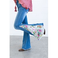 Feeling Groovy Embroidered Flare Jeans - Light Wash