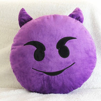 12 Styles Soft Emoji Smiley Emoticon Yellow Round Cushion Pillow Stuffed Plush Toy Doll Christmas Present (Color: Yellow) = 1946120004