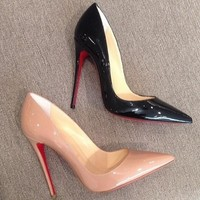 Fashion Online Pumps High Heels Pointed Toe Women Shoes Red Bottom Sole