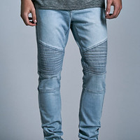 Bullhead Denim Co. Light Moto Stacked Skinny Jeans at PacSun.com