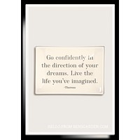 Go Confidently In The Direction Decoupage Glass Tray