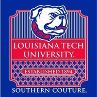 Southern Couture Preppy Logo Louisiana Tech Bulldogs Louisiana Girlie Bright T Shirt