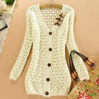 A 081508 Outside the ride loose casual knit cardigan827