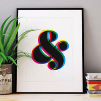'Ampersand' Colour Giclée Typography Print