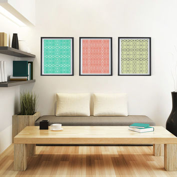 Aztec Series - 8x10 or 11x14 Set of 3 Discounted Poster Prints