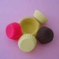 Round Cup Cake Bottom  Flexible Silicone Mold 15mm Miniatures, Chocolate, soap, wax, Resin, PMC, Air Dry Clay , Polymer Clay Mold ) (M238)