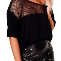 Mesh Plus Size T-Shirt | Attitude Clothing
