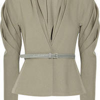 Donna Karan Belted stretch wool-blend jacket - 60% Off Now at THE OUTNET