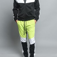 Tri Color Blocked Track Suit
