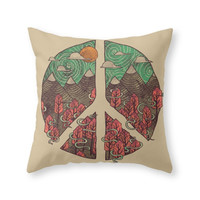 Society6 Peaceful Landsca Throw Pillow