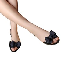 Jelly Sandals New Beach Jelly Shoes Woman Hot Summer Butterfly-knot Slip On Flats Casual Women Shoes