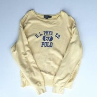 90s Ralph Lauren Sweatshirt Size XL, Polo Crewneck Sweatshirt, Oversized Sweater