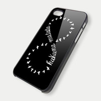 disney funny hakuna matata infinity black iPhone Case And Samsung Galaxy Case
